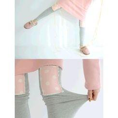 LOLOten - Polka-Dot Knee-Patch Leggings