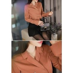 MyFiona - Faux-Pearl Button Blouse