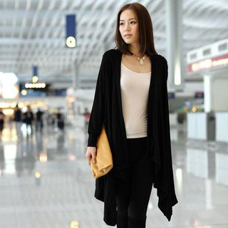 59 Seconds - Open-Front Oversized Cardigan