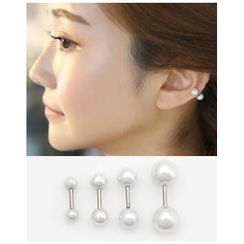 Miss21 Korea - Dual Faux-Pearl Piercing (Single)