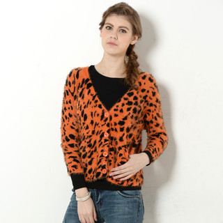59 Seconds - Leopard Print Furry Cardigan