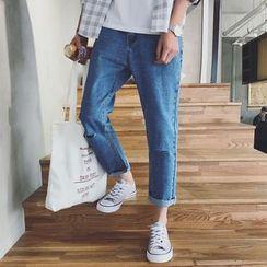 Jimboy - Distressed Straight Jeans