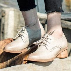 MIAOLV - Lace-Up Brogue Shoes
