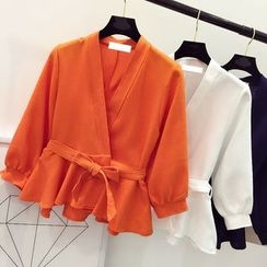 DIYI - Tie Waist Jacket
