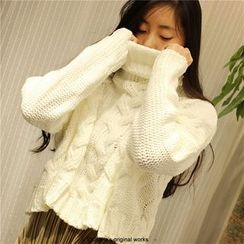 Elfina - Cropped Cable-Knit Sweater
