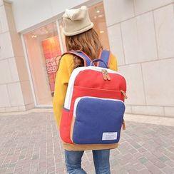 Bagolo - Color-Block Canvas Backpack