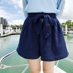 HELLO KANO - Bow-Accent Shorts