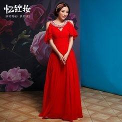 Gracia - 露肩寶石飾晚禮服