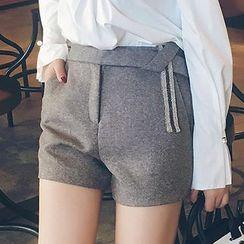 LRZ - Embellished Knit Shorts