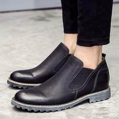 Shino - Paneled Ankle Boots