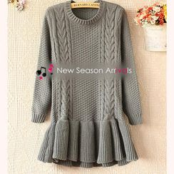 Ringnor - Cable-Knit Peplum Tunic
