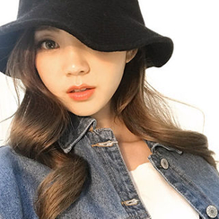 chuu - Inset Wire Wool Blend Knit Bucket Hat