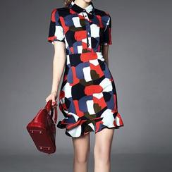 Alaroo - Short-Sleeve Patterned Dress
