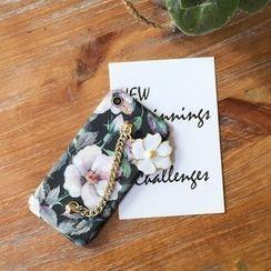 Casei Colour - Chain Detail Floral Print Phone Case - Apple iPhone 7 / 7 Plus