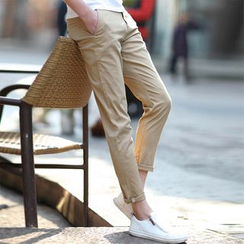 Bay Go Mall - Plain Cotton Pants