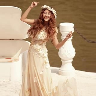 Angel Bridal - Rosette Wedding Dress