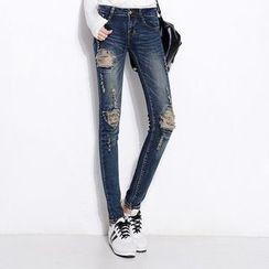 Sienne - Ripped Skinny Jeans