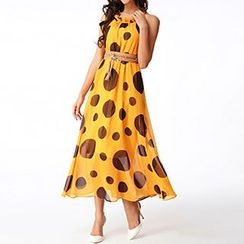Rebecca - Dotted Maxi Dress