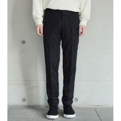 ABOKI - Flat-Front Tapered Pants