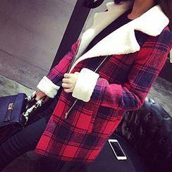 lilygirl - Plaid Zip Coat