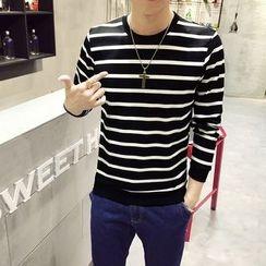Ekinbrown - Stripe Long-Sleeve T-shirt