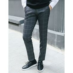 STYLEMAN - Check-Patterned Dress Pants