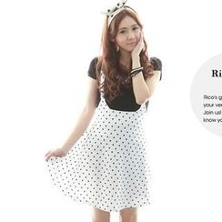 rico - Dotted Suspender Skirt