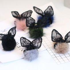 MOORE - 球形装饰小兔耳朵抓发夹