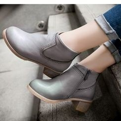 Freesia - Block Heel Ankle Boots