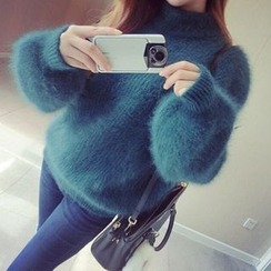 EFO - Long-Sleeve Furry Knit Top