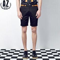 Antszone - Contrast-Trim Shorts