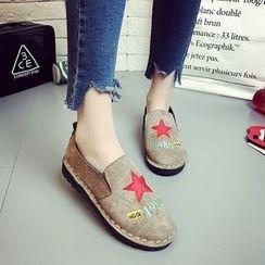 Chryse - 星星刺绣轻便鞋