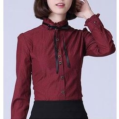 Caroe - Frilled Tie Neck Shirt
