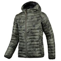 Seoul Homme - Hooded Camouflage Padded Jacket - Lightweight