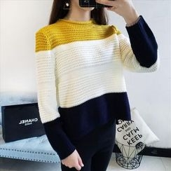 Emeline - Color Block Sweater