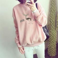 Emeline - Deer Embroidered Sweatshirt