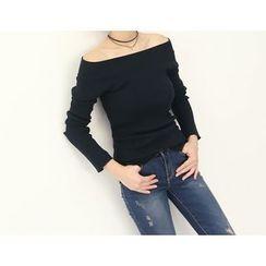 DANI LOVE - Off-Shoulder Long-Sleeve T-Shirt