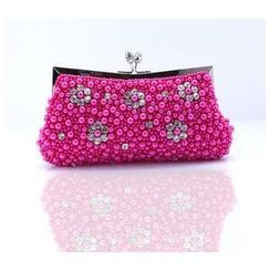Glam Cham - Floral Faux Pearl Clutch