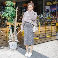 Whitney's Shop - Plain Turtleneck Chunky Sweater
