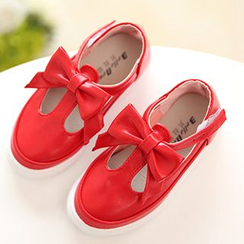 Luco - Kids Bow T-Strap Flats