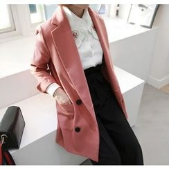 Miamasvin - Notched-Lapel Double-Breasted Jacket