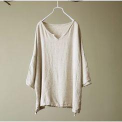 Calo Rosa - Long-Sleeve V-Neck T-Shirt