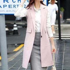 Donnae - Sleeveless Long Blazer