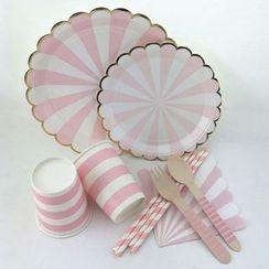 Palmy Parties - 一次性印花纸碟 / 杯 / 木制餐具
