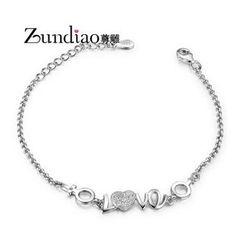 Zundiao - Rhinestone Letter Bracelet