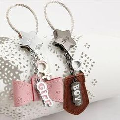 MILESI - Couple Faux-Leather Keychain