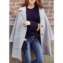 Chlo.D.Manon - Single-Breasted Wool Blend Coat