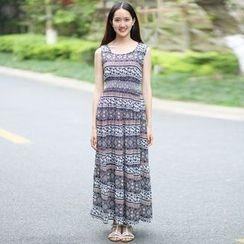 Rainbeam - Sleeveless Printed Maxi Dress