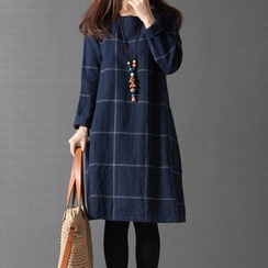 Supernova - Check Long-Sleeve Dress
