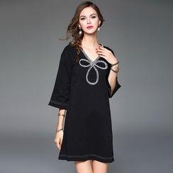Queen Mulock - Applique A-Line Dress